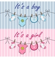 It is a boy and it is a girl announcement vector image