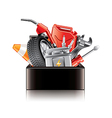 auto parts box isolated vector image