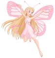 Beautiful flying fairy vector image