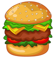big burger vector image