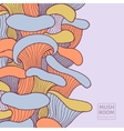 Colorful background with mushrooms vector image