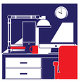 desktop workstation vector image