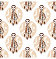 ethnic seamless pattern with skulls and boho vector image