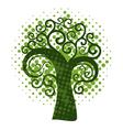 Grunge swirly tree vector image