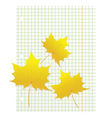 Maple leaves on a writing book in a cage vector image