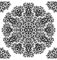 Ornate vintage black lacy seamless pattern vector image
