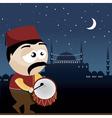 ramadan drummer vector image