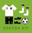 Soccer Kit vector image