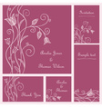Wedding card set vector image