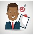 man clipboard tool app vector image