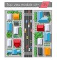 top view highway vector image