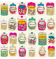 Candy seamless background vector image vector image