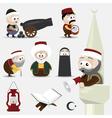 ramadan icons vector image vector image