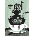 fresh coffee preparation vector image vector image