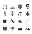 Silhouette restaurant and night club icons vector image vector image