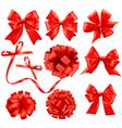 gift bows and ribbons vector image vector image