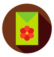 Flower Garden Seeds Package Circle Icon vector image