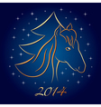 Horse New Year vector image