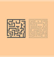 labyrinth maze conundrum dark grey set icon vector image