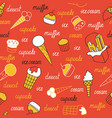 sweets on a red background vector image