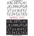 Sketch drawn alphabet vector image vector image
