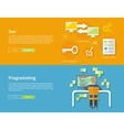Programming and Seo Concept vector image