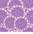 beautiful pattern with purple flowers vector image