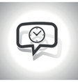 Curved clock message icon vector image