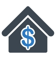 Mortgage Icon from Commerce Set vector image
