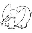 Elephant Cartoon for coloring book vector image vector image