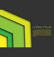 abstract green yellow arrow on gray blank vector image