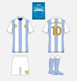 Football kit template for your sport club vector image