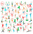 gymnastics and ballet big set vector image