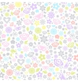 Multicolored seamless pattern of flowers vector image
