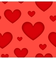 Red hearts suhlouettes seamless pattern vector image