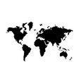 world map the black color icon vector image