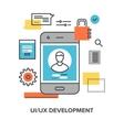 ui ux development vector image