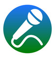 microphone sign   white icon vector image