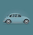 the vintage blue car vector image