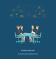 Business meeting partnership and brainstorming vector image