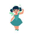 fairy girl fantasy isolated vector image