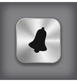 Bell icon - metal app button vector image vector image