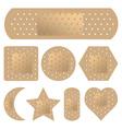 adhesive bandage set vector image vector image