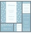 Wedding or invitation card set vector image
