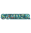 Inscription Summer vector image vector image