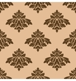 Floral seamless pattern with brown on beige vector image
