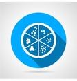 Petri dish round icon vector image