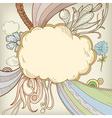 cartoon cloudscape vector image