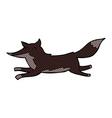 comic cartoon running wolf vector image