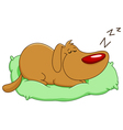 sleeping dog vector image vector image
